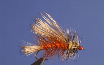Dry Fly: Orange Stimulator