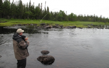 Fishing at Salmon River